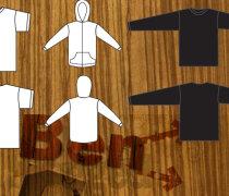 T-Shirt and Sweat shirt Template designs