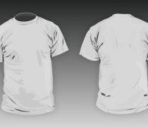 T-shirt round neck Men basic template