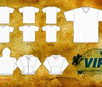 T-Shirt and Hood Templates