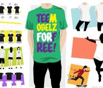 Vector model T-shirt template