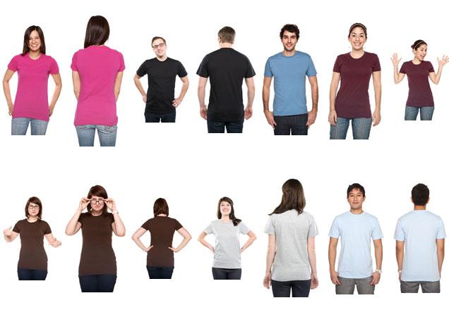 Photo t-shirt template models T-shirt Template