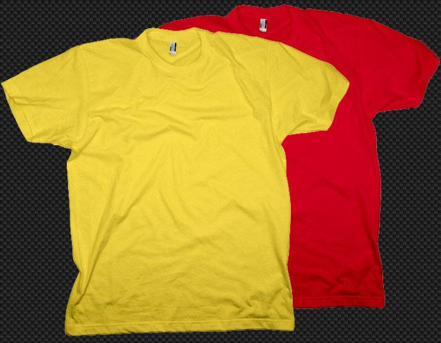 Psd T-shirt template T-shirt Template