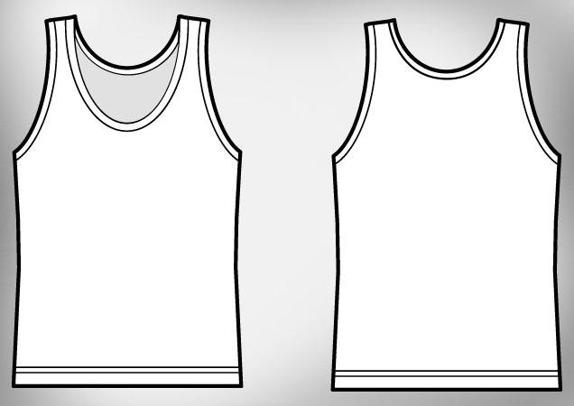 Girl Tank Top T Shirt Template Free Download T Shirt