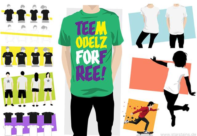 Vector model T-shirt template T-shirt Template