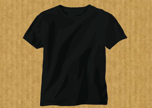 Black t-shirt template T-shirt Template