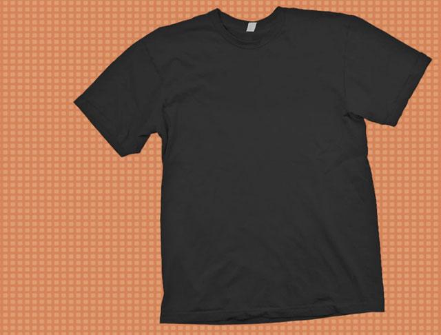 black t-shirt template psd   Free Download T Shirt Template