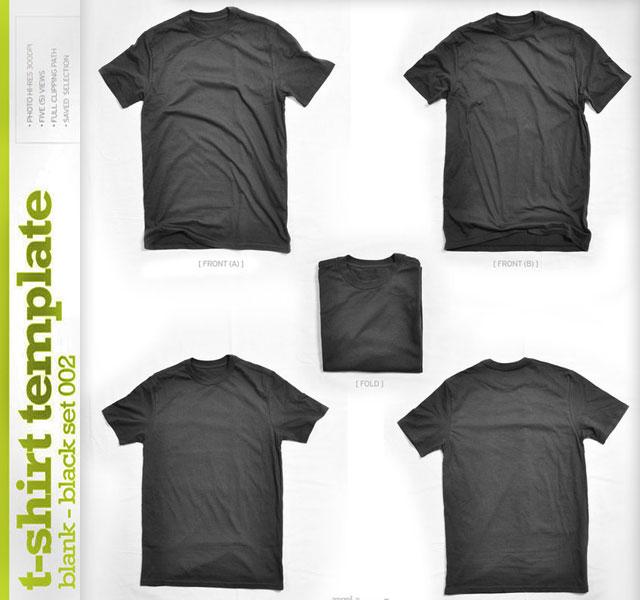 Blank T-shirt Template Black T-shirt Template