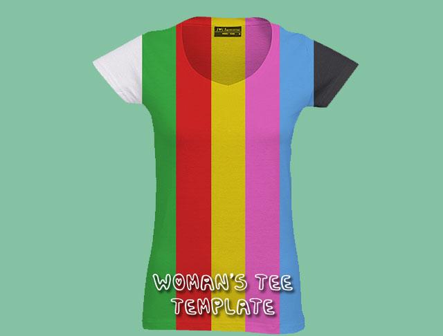 Women T-shirt Mockup Template T-shirt Template
