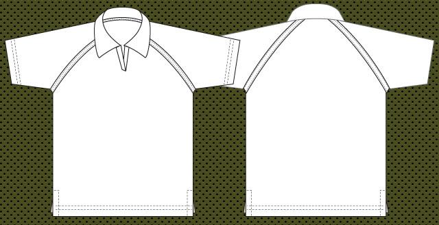 Raglan Collar T-shirt template | Free Download T Shirt Template