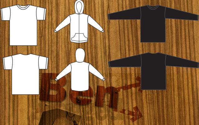 T-Shirt and Sweat shirt Template designs T-shirt Template