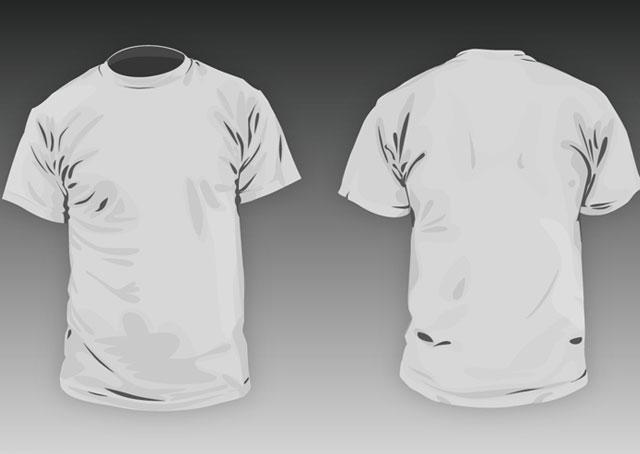 T-shirt round neck Men basic template T-shirt Template