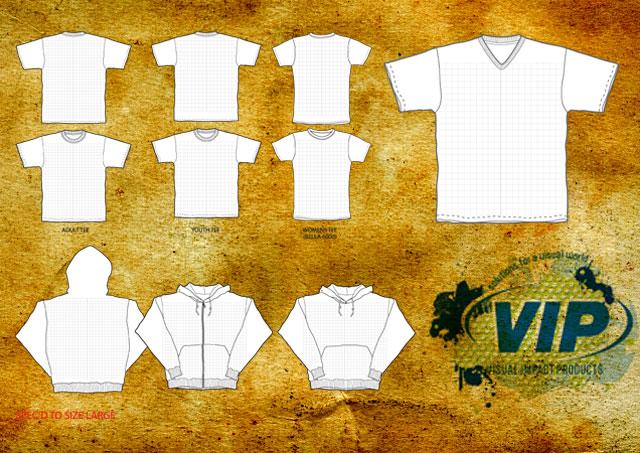 T-Shirt and Hood Templates T-shirt Template