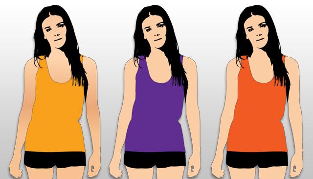 Women tank top template T-shirt Template