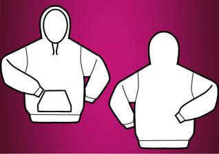 Hooded vector t-shirt template