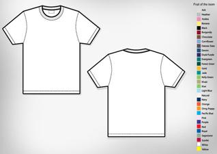 mens basic t shirt template
